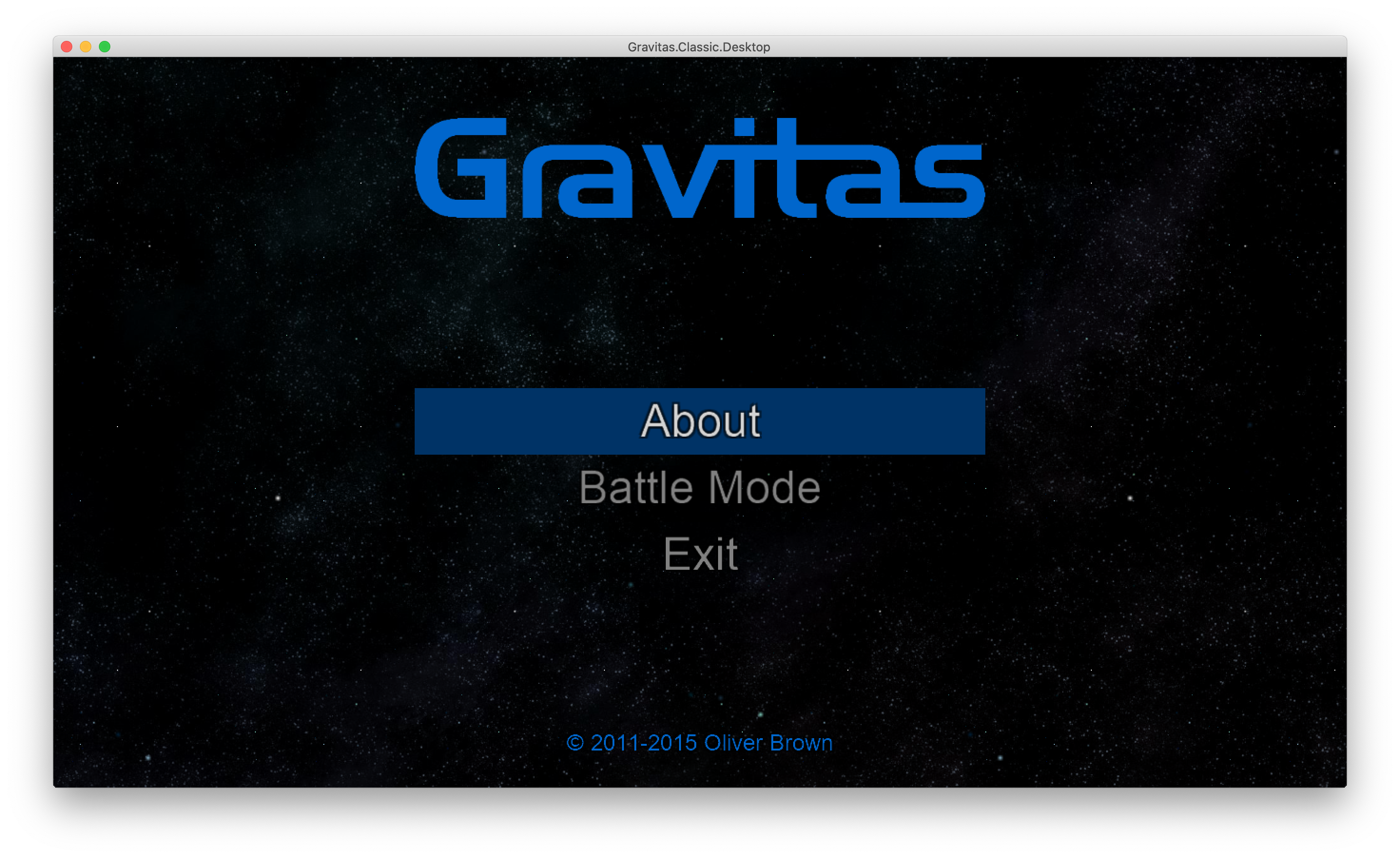 Classic Gravitas on a Mac via MonoGame